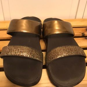 Fitflop Bronze LuLu Superglitz Sandals Size 8